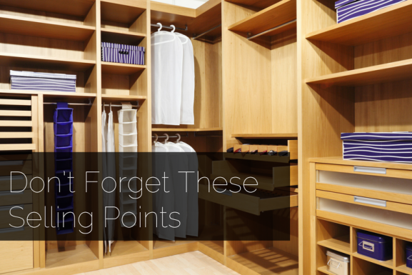 Don't Forget These Selling Points